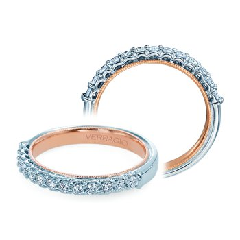 Verragio Classic V 901W-TT - 14k White and Rose Gold Diamond Wedding Band