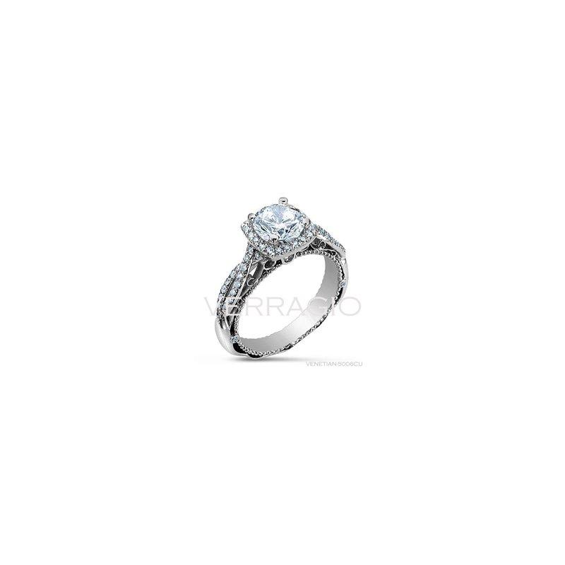 Verragio Verragio Venetian 5006CU - 18k White Gold Diamond Engagement Ring by Verragio