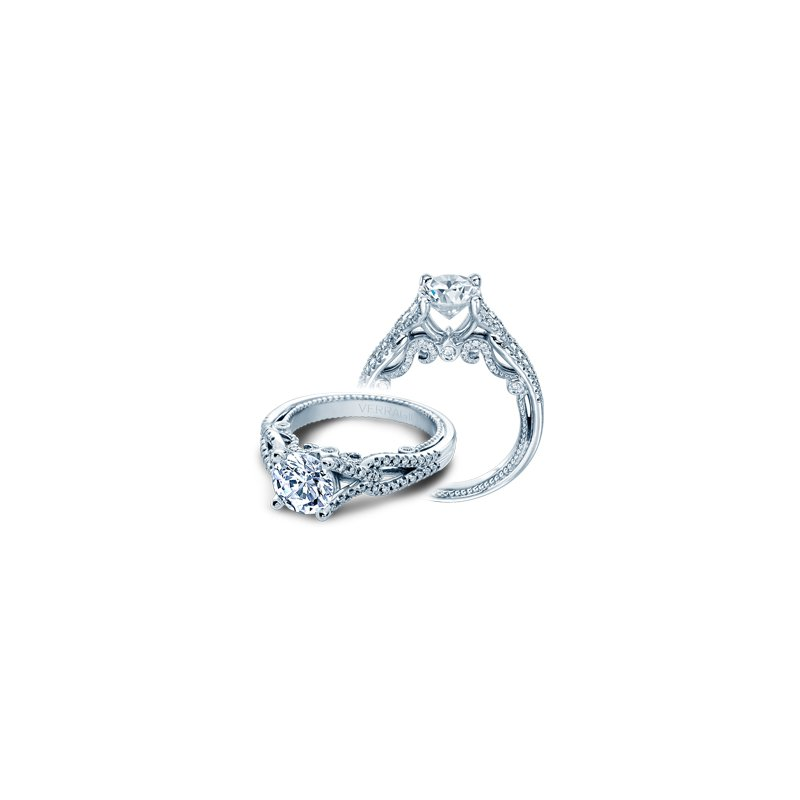 Verragio Verragio Insignia 7082R - 18k White Gold Twist Band Diamond Engagement Ring by Verragio