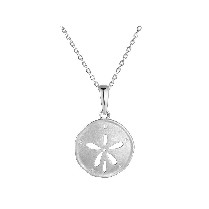 Sealife Jewelry Sterling Silver Sand Dollar Pendant