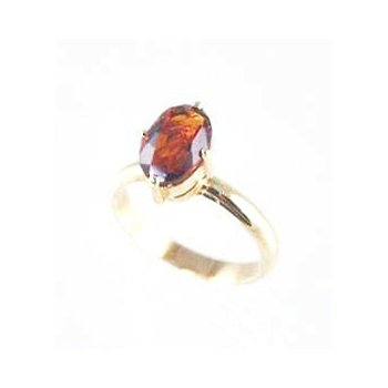 Genuine Citrine Ring in 14k Yellow Gold