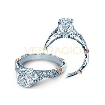 Verragio Parisian DL-105R - 2WR 14k White and Rose Gold Engagement Ring