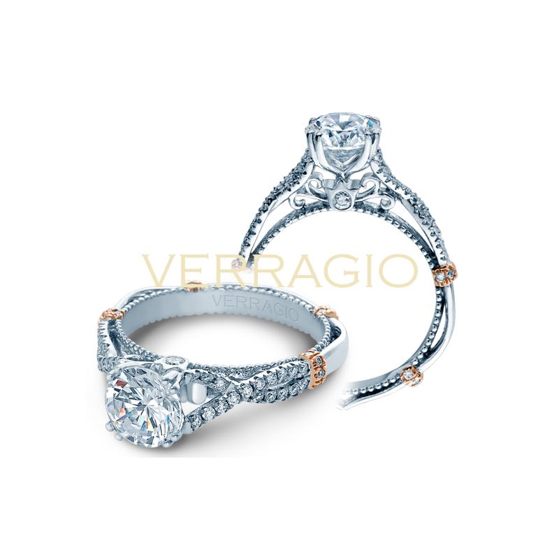 Verragio Verragio Parisian DL-105R - 2WR 14k White and Rose Gold Engagement Ring