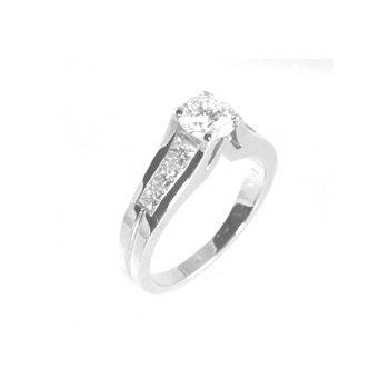 3/4 ct Center Round Brilliant Diamond Engagement Ring - 33093