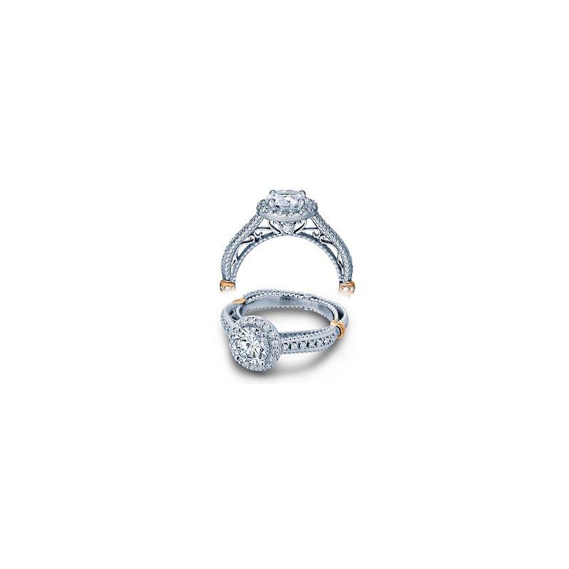 Verragio Verragio Venetian 5033R - 14k White and Rose Gold Round Brilliant Diamond Halo Engagement Ring by Verragio