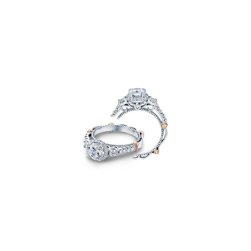 Verragio Verragio Parisian D-122R - 14k White and Rose Gold Diamond Halo Engagement Ring by Verragio