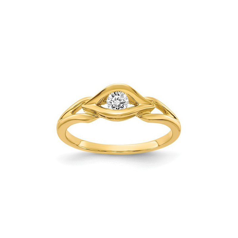 Signature Collection From the Promise Ring Collection 14k Yellow Gold Channel Set Diamond Ring