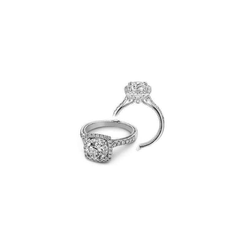 Verragio Verragio Couture 0430DCU-PLT - Platinum Cushion Halo Diamond Engagement Ring by Verragio