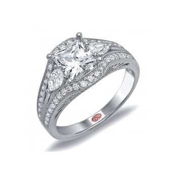 Demarco DW5681 - 18k White Gold Engagement Ring by Demarco