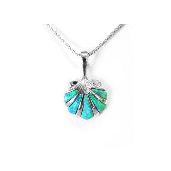 Kabana Australian Opal Inlay Shell Pendant