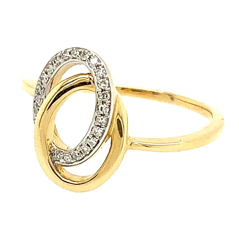 Signature Collection 14k Yellow & White Gold Interlocking Diamond Ring