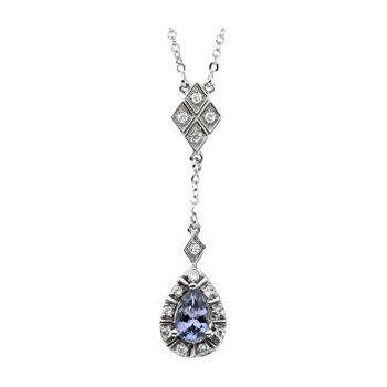 Genuine Tanzanite & Diamond Necklace