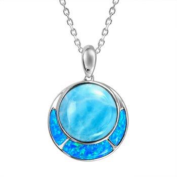 Alamea Larimar & Lab Created Opal Pendant