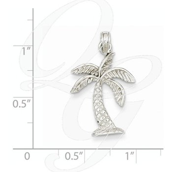 Quality Collection Sealife 14k White Gold Palm Tree Pendant