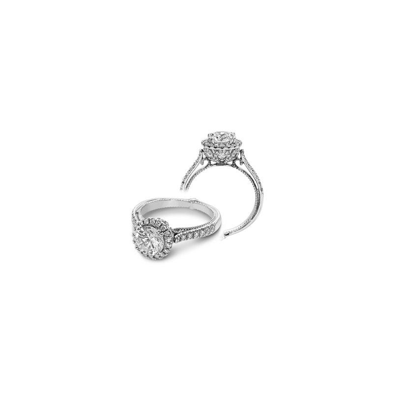 Verragio Verragio Couture 0433DR-PLT - Platinum Round Halo Diamond Engagement Ring by Verragio