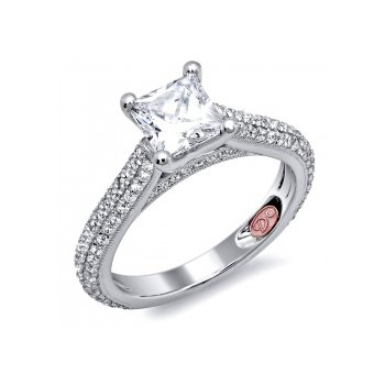 Demarco DW4962 - 18k White Gold Engagement Ring by Demarco