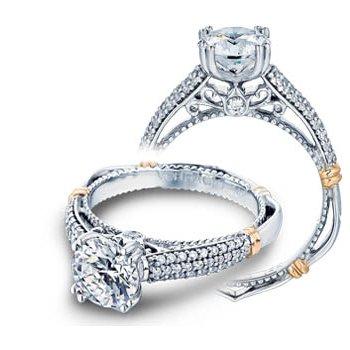 Verragio Parisian-114 - 14k White and Rose Gold Diamond Engagement Ring by Verragio