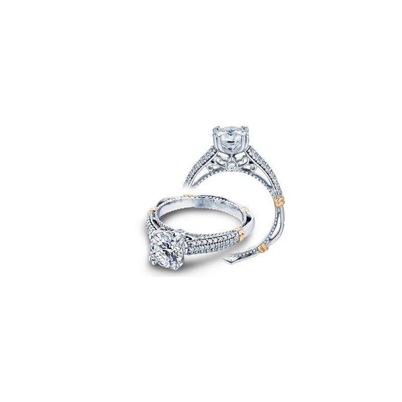 Verragio Verragio Parisian-114 - 14k White and Rose Gold Diamond Engagement Ring by Verragio