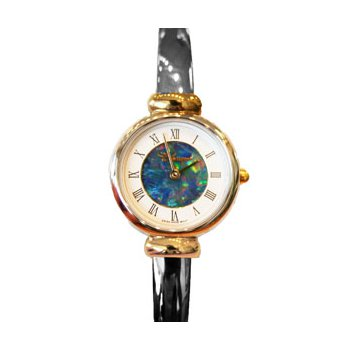 Classique' Watches Genuine Australian Opal Dial Watch - #28-05 2T GP OPD