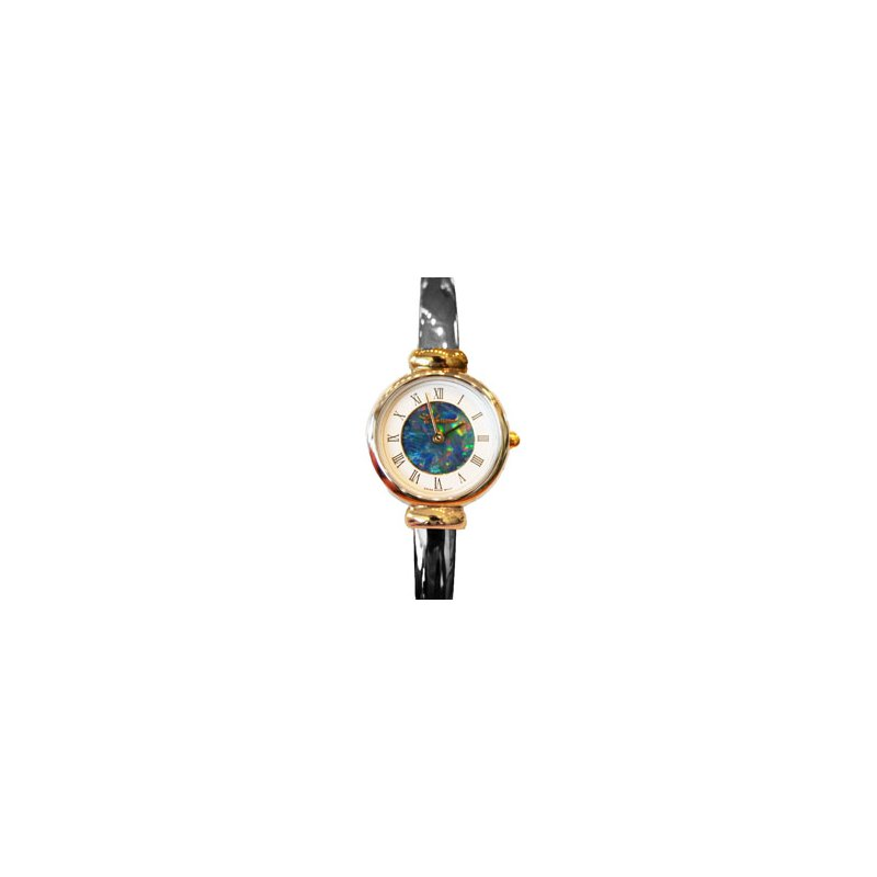 Swiss Watches Classique' Watches Genuine Australian Opal Dial Watch - #28-05 2T GP OPD