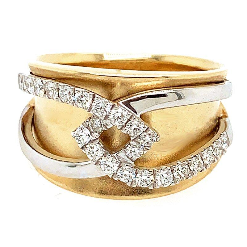 Signature Collection 14k Yellow & White Gold Diamond Band