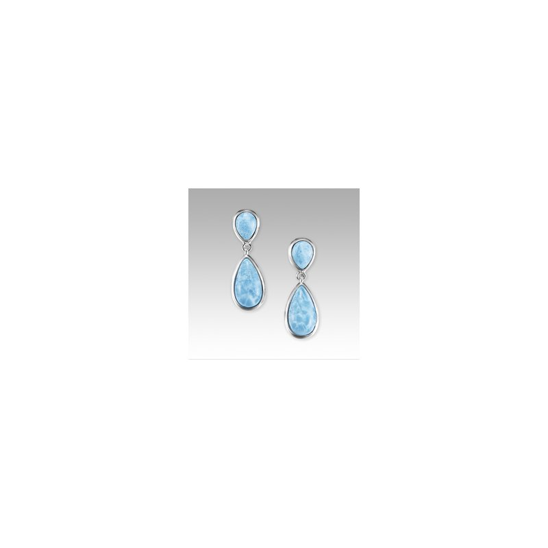 Marahlago Larimar Marahlago Basic Collection Double Pear Earrings