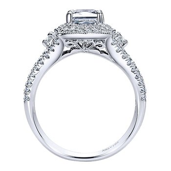 Platinum Ring from the Amavida Collection by Gabriel Fancy Halo Engagement Ring