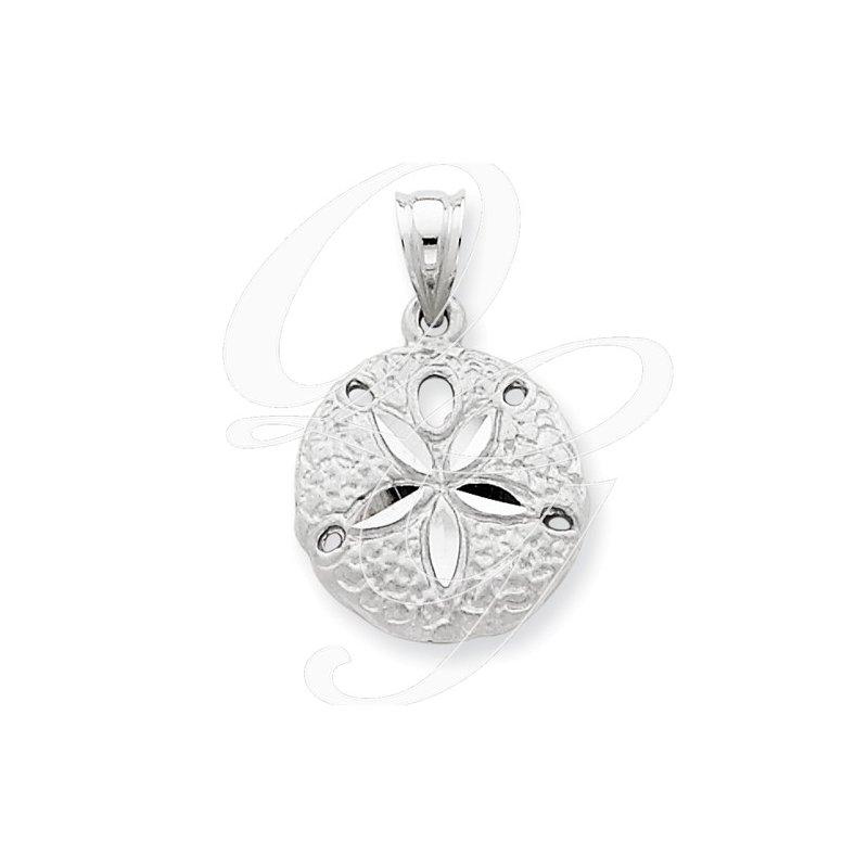 Sealife Jewelry Quality Collection Sealife 14k White Gold Sand Dollar Pendant