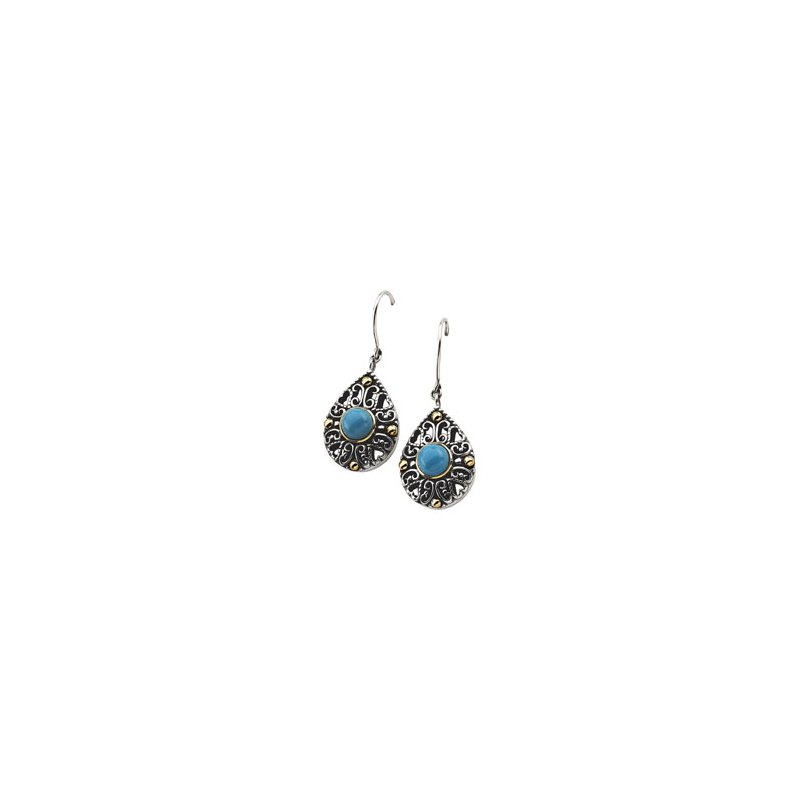 Signature Collection Genuine Turquoise Earrings