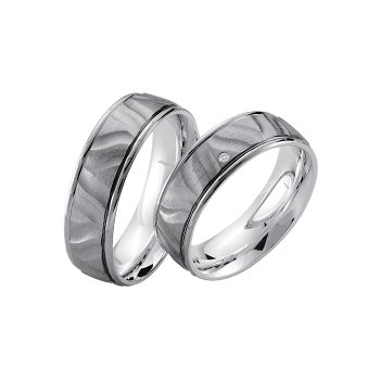Palladium and Silver 7mm Wedding Band