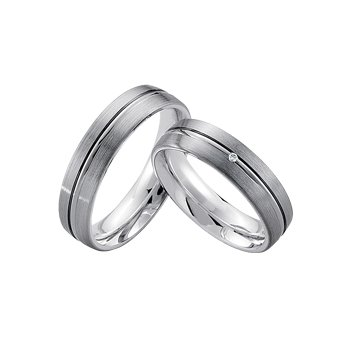Palladium and Silver 5.5mm Wedding Band