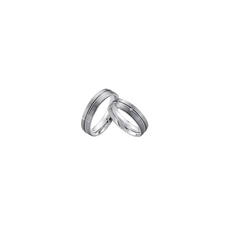 Samuel Jewels Palladium and Silver 5.5mm Wedding Band