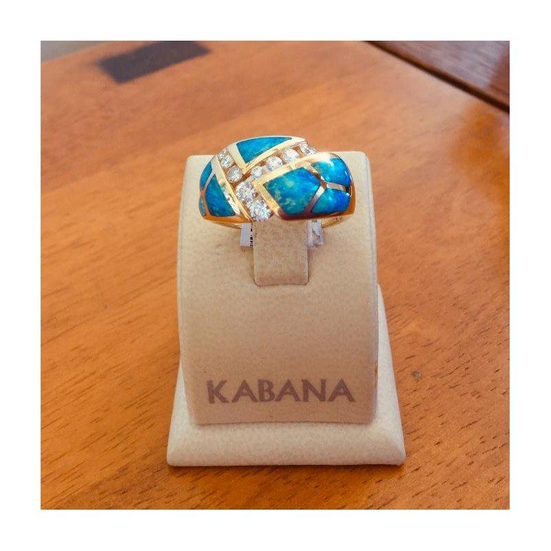 Kabana Jewelry Kabana Australian Opal Inlay and Diamond Ring - Style #35888