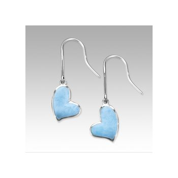 Marahlago Larimar Floating Heart Earrings