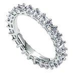 Gabriel NY 14k White Gold Princess Cut Shared Prong Eternity Band Anniversary Ring
