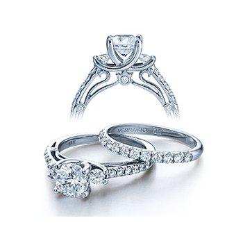 Verragio Couture-0397 - 14k White Gold Diamond Engagement Ring by Verragio