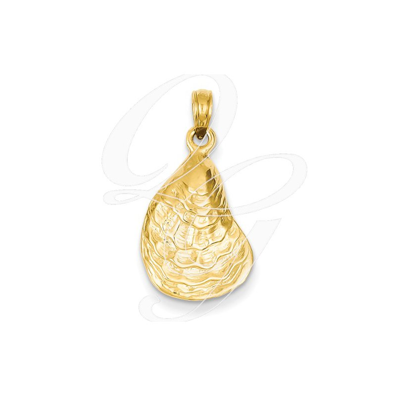 Sealife Jewelry Quality Collection Sealife 14k Yellow Gold Oyster Shell Pendant