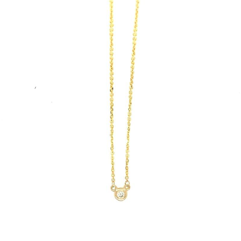 Signature Collection 14k Yellow Gold Bezel Set Diamond Necklace