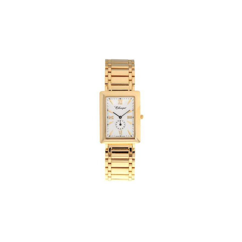 Swiss Watches Classique Gents Stainless Steel Gold Plated Swiss Quartz Watch - #35718