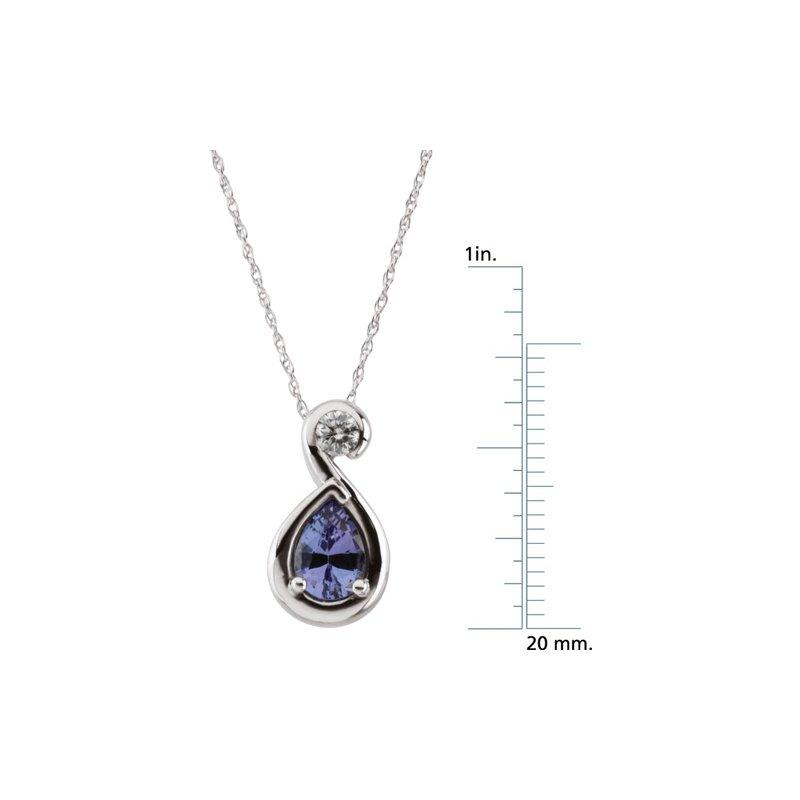 Signature Collection Genuine Tanzanite Necklace