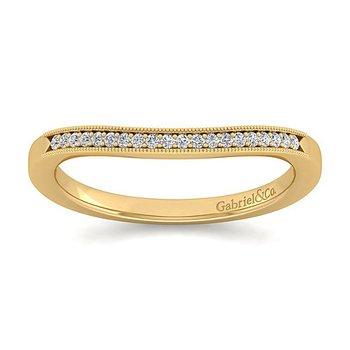 Gabriel NY 14k Yellow Gold Vintage Style Diamond Wedding Band Style #WB11721R4Y44JJ