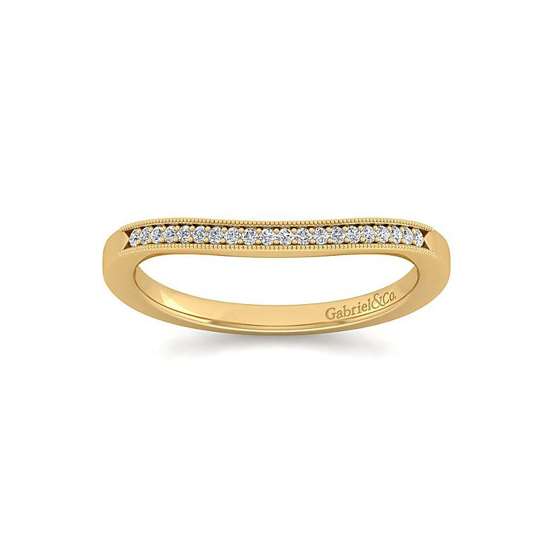 Gabriel NY Gabriel NY 14k Yellow Gold Vintage Style Diamond Wedding Band Style #WB11721R4Y44JJ