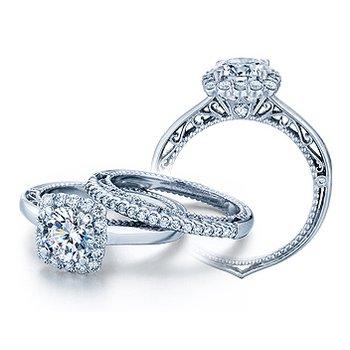 Verragio Venetian 5019CU - 18k White Gold Diamond Engagement Ring by Verragio