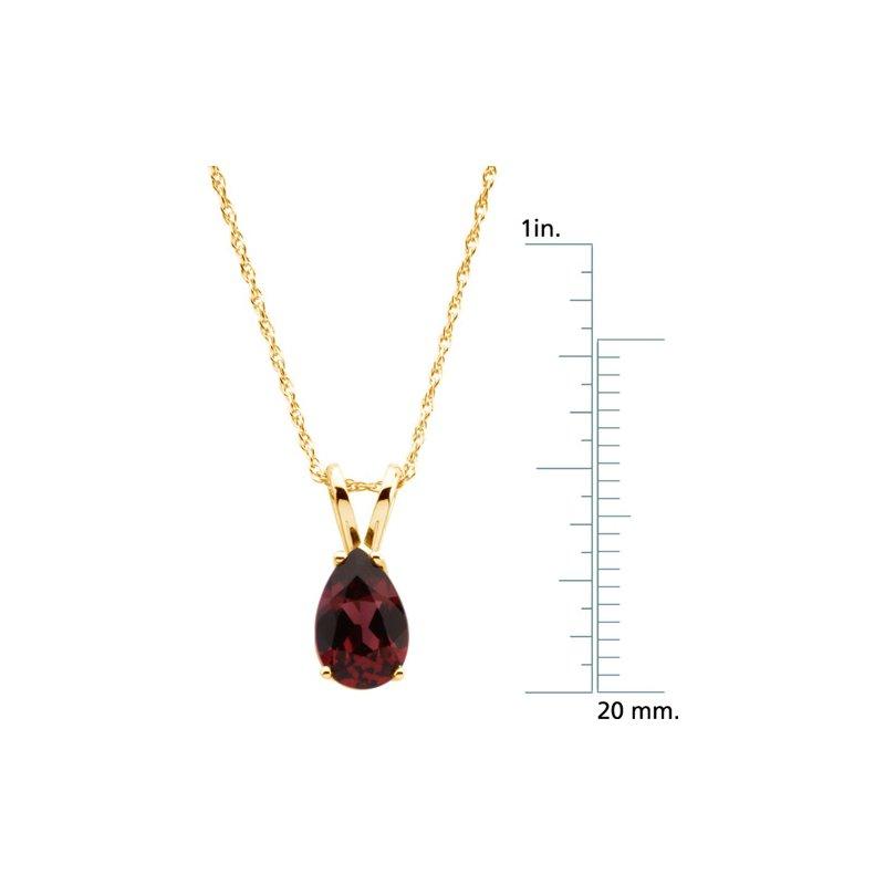 Signature Collection Genuine Rhodolite Garnet Necklace