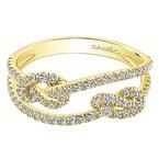 Gabriel NY Gabriel NY 14k Yellow Gold Double Love Knot Diamond Ring - #LR51128Y45JJ