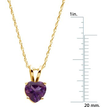 Genuine Heart-Shape Amethyst Necklace
