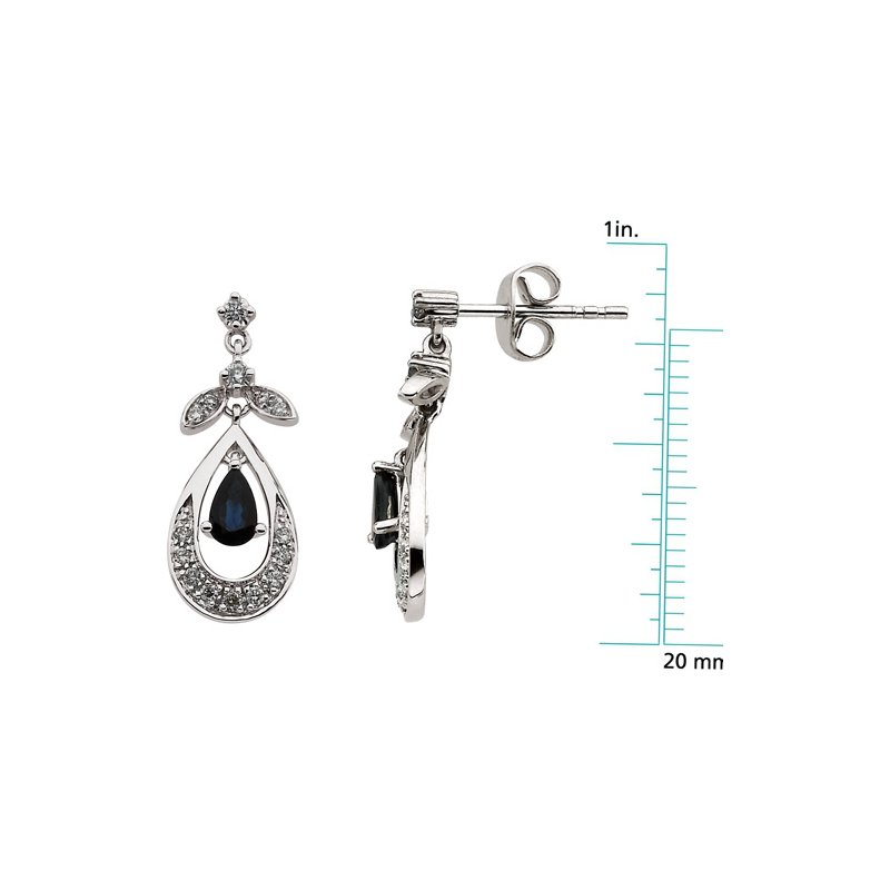 Signature Collection Genuine Sapphire & Diamond Earrings - El661134