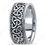 Unique Settings Unique Settings HM209 - Y - 14k Yellow Gold Handmade Celtic Design 10mm Men's Wedding Band