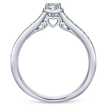 Adore Collection 14k White Gold Pave' Diamond Engagement Ring