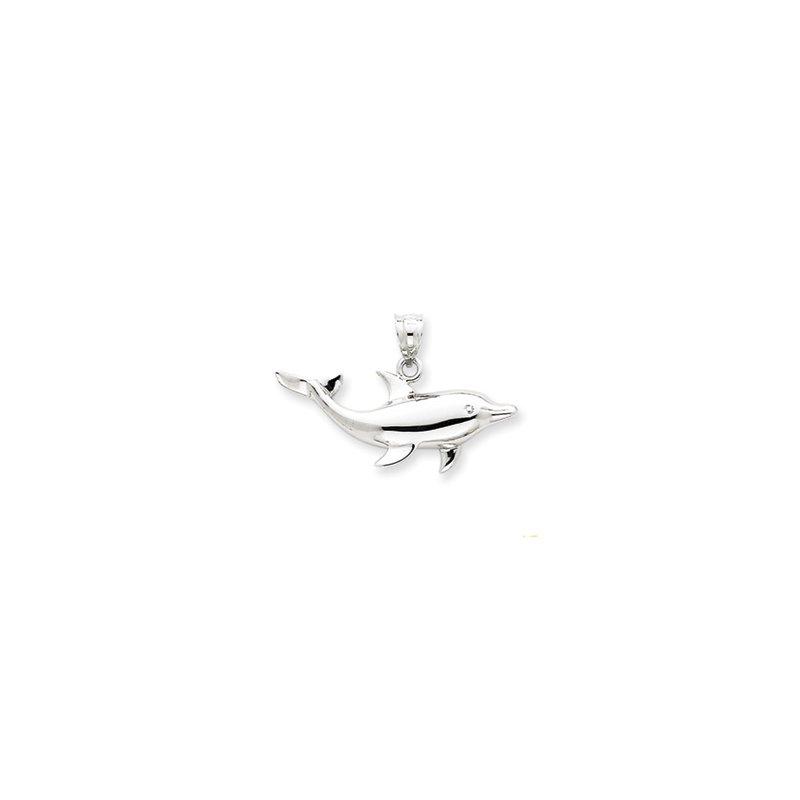 Sealife Jewelry 14k White Gold Dolphin Pendant
